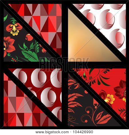 Set Of Pattern. Background. Patchwork. Banner Design. Illustration