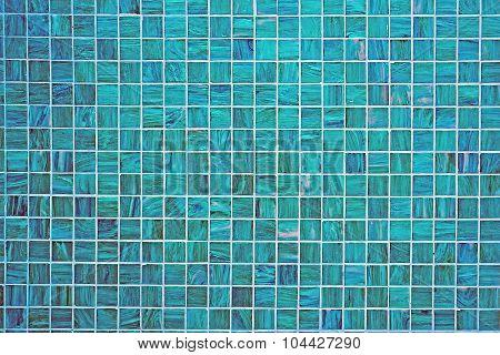 Blue square tiled background