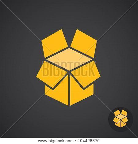 Golden Box Icon