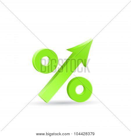 Percent Up Icon