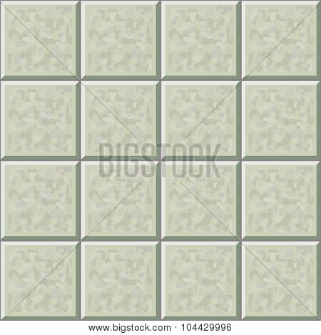 Marble ceramic tile gray floor seamless pattern. Vector illustration