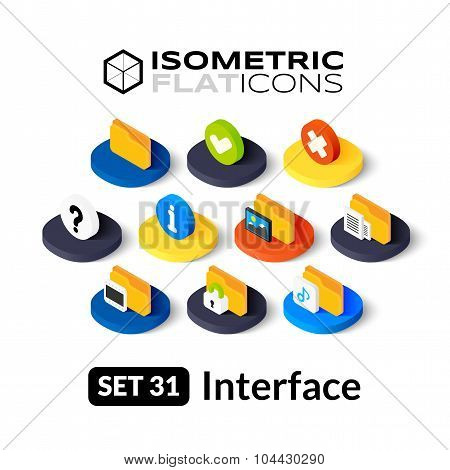 Isometric flat icons set 31