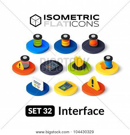 Isometric flat icons set 32