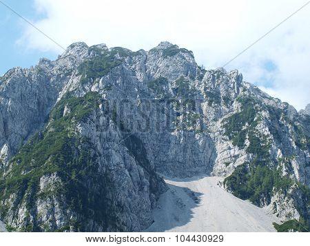 Mountain Begunjska Vrtaca, Slovenian Alps