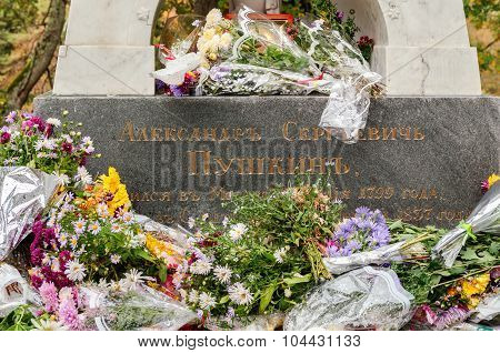 Tomb Of A.s. Pushkin In The Holy Dormition Monastery