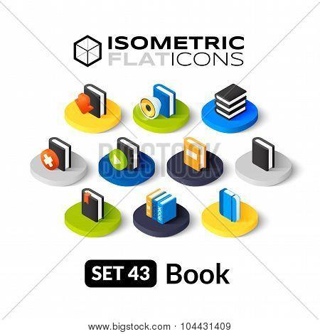 Isometric flat icons set 43