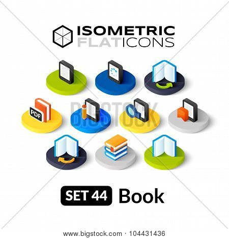 Isometric flat icons set 44