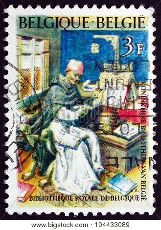 Postage Stamp Belgium 1966 Medieval Scholar