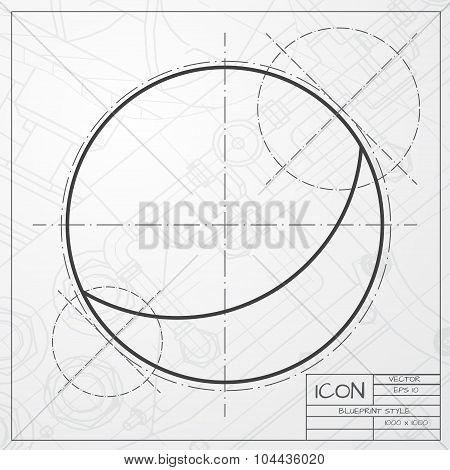Vector ball icon
