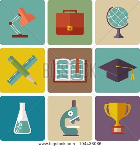Vector Set Of Education Icons