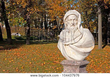 Tsarskoye Selo (Pushkin). Saint-Petersburg. Russia. The Catherine Park Sculpture