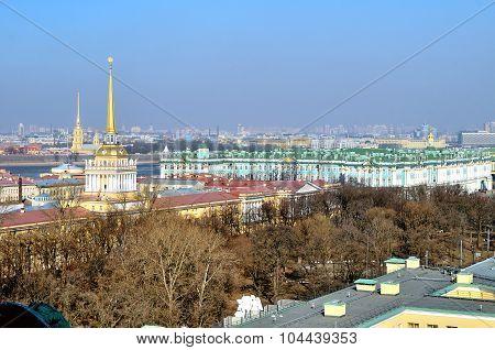Panorama Of St. Petersburg, Birds-eye View