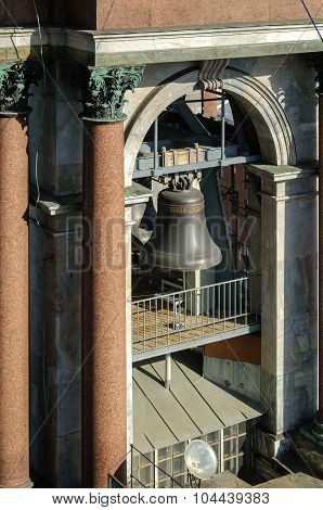 Bell In The Span Of The Belfry Of St. Isaac's Cathedral In St. Petersburg