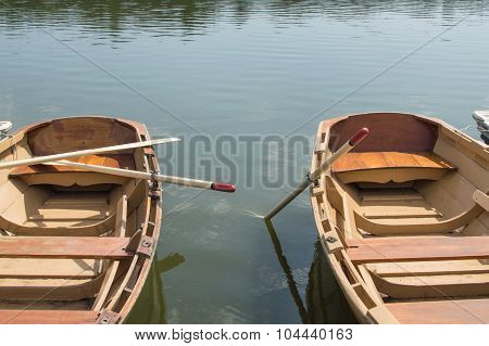 2 Docked Row Boats