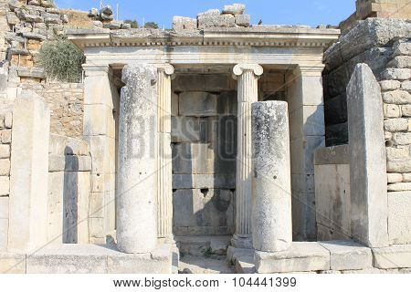 Ephesus antique ruins of the ancient city in the province of Selcuk
