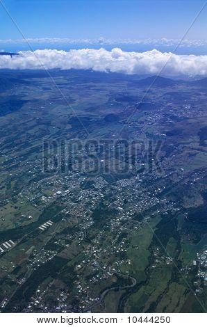 Aerial View Of Cafres Plain Reunion Island