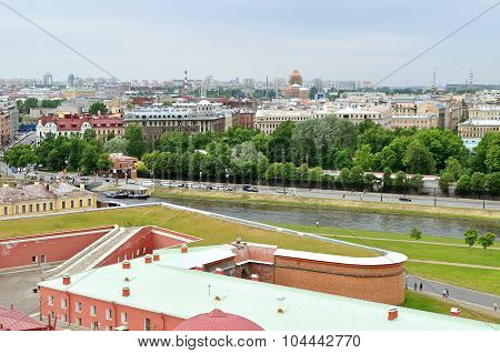 Panorama  Of Saint Petersburg, Russia From A Height