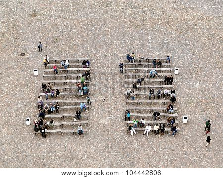 People From Above - Taken From Belfry Of Peter And Paul Cathedral, Saint-petersburg, Russia