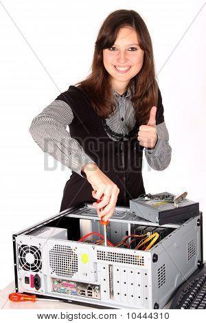 fijación de la computadora