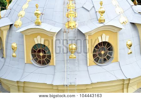Decoration Details Of Peter And Paul Cathedral In Saint-petersburg, Russia