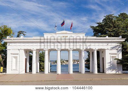 Grafskaya Quay (or Count's Pier) In Sevastopol. Crimea, Russia.