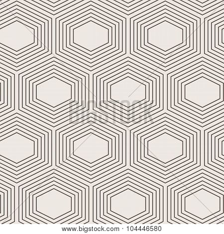 Seamless abstract geometric pattern of a hexagons