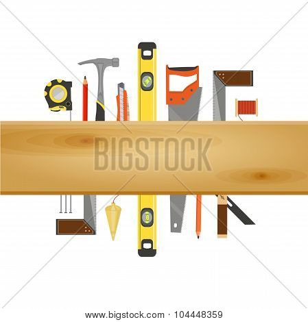 Carpenter Tool Flat Banner