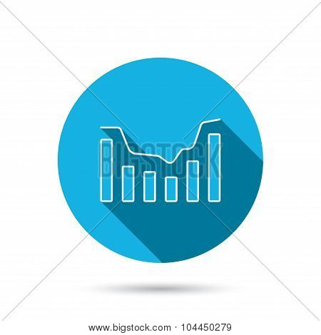 Dynamics icon. Statistic chart sign.