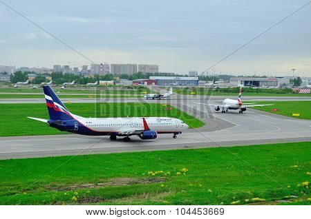 Aeroflot Russian Airlines, British Airways, Flight Tests And Systems Airlines  Airplanes In Pulkovo