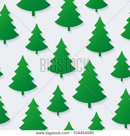 Christmas tree seamless pattern. Vector EPS10.