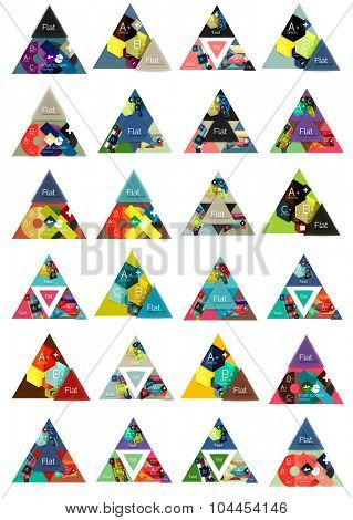 Triangle shape for your message or option banner. Web, app background or business identity, presentation and wallpaper