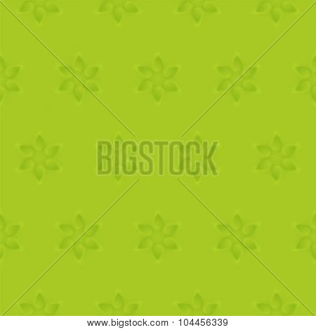 Relief texture seamless pattern of 3d modelling clay flower