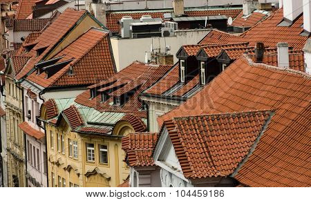 Red Roofs Of Old Town Near Powder Tower