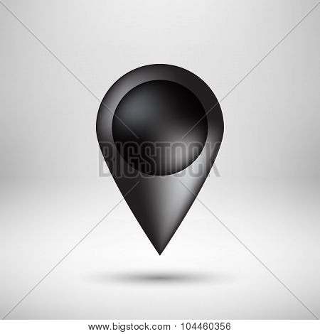 Black Bubble Map Pointer Badge