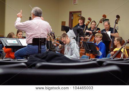 Metropolitan Youth Symphony Orchestra Rehearsal