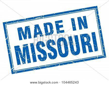 Missouri Blue Square Grunge Made In Stamp