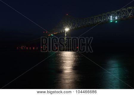 Astoria-Megler Bridge at Night