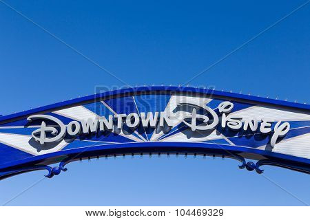 Downtown Disney Sign