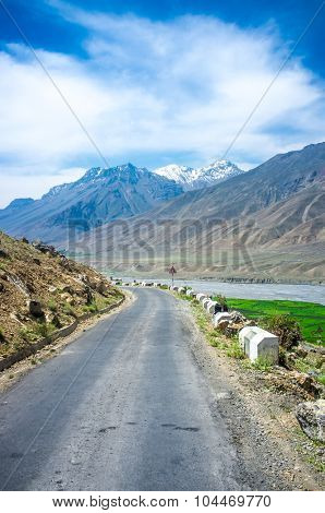 Road to Spiti Valley, Himachal Pradesh, India