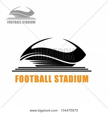 Modern football stadium building icon