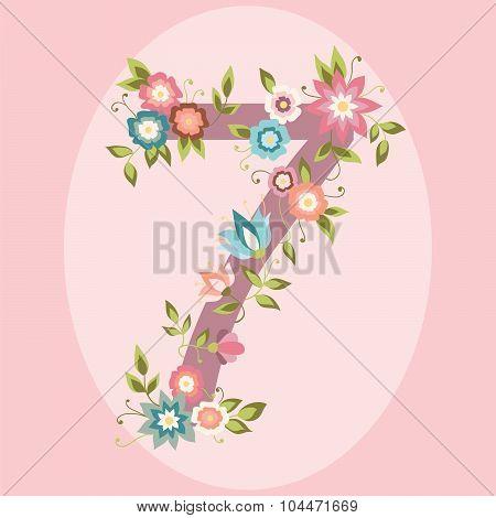 Vector Floral Number
