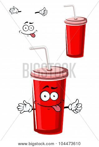 Takeaway red beverage cup character