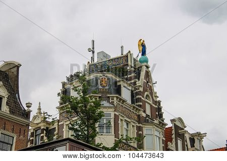 Historic Building The Office Of Insurance Company In Amsterdam