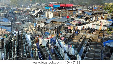 Dhobi Ghat In Mumbai, India.