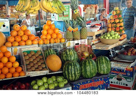 Fruits In The Bazaar Of Yerevan Market, Armenia