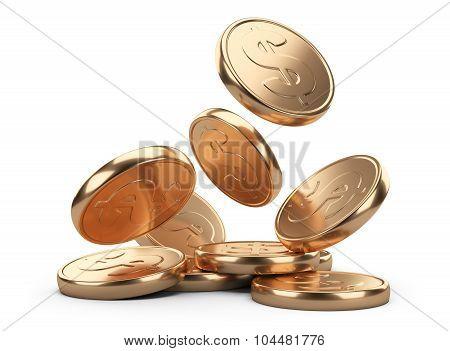 Golden Falling Coins