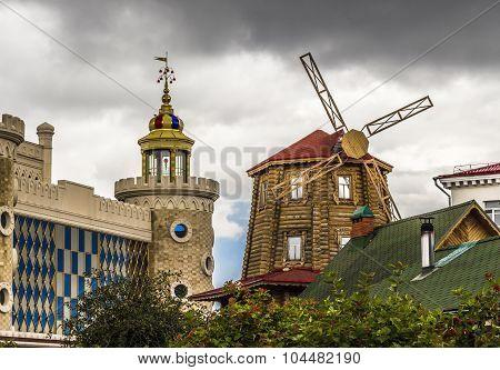 Tatar Village In The City Kazan, Tatarstan, Russia.