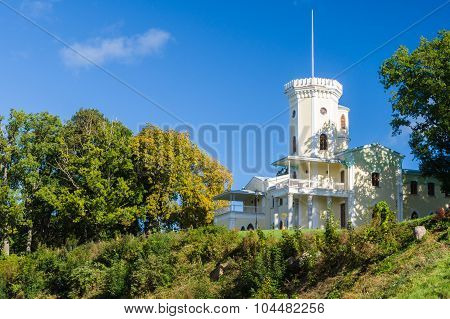 Keila-joa Manor (schloss Fall) On Hillside Against Blue Sky