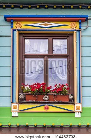 A Window Of The Rural House
