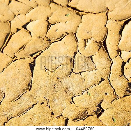 Brown Dry Sand In Sahara Desert Morocco Africa Erosion And Abstract